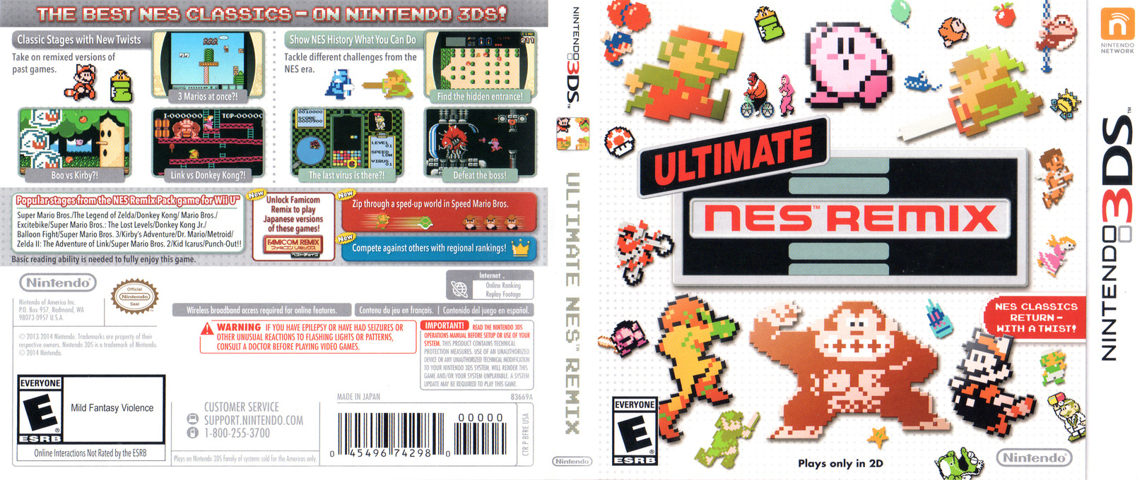 Ultimate NES Remix 3DS coverfullHQ (BFRE)