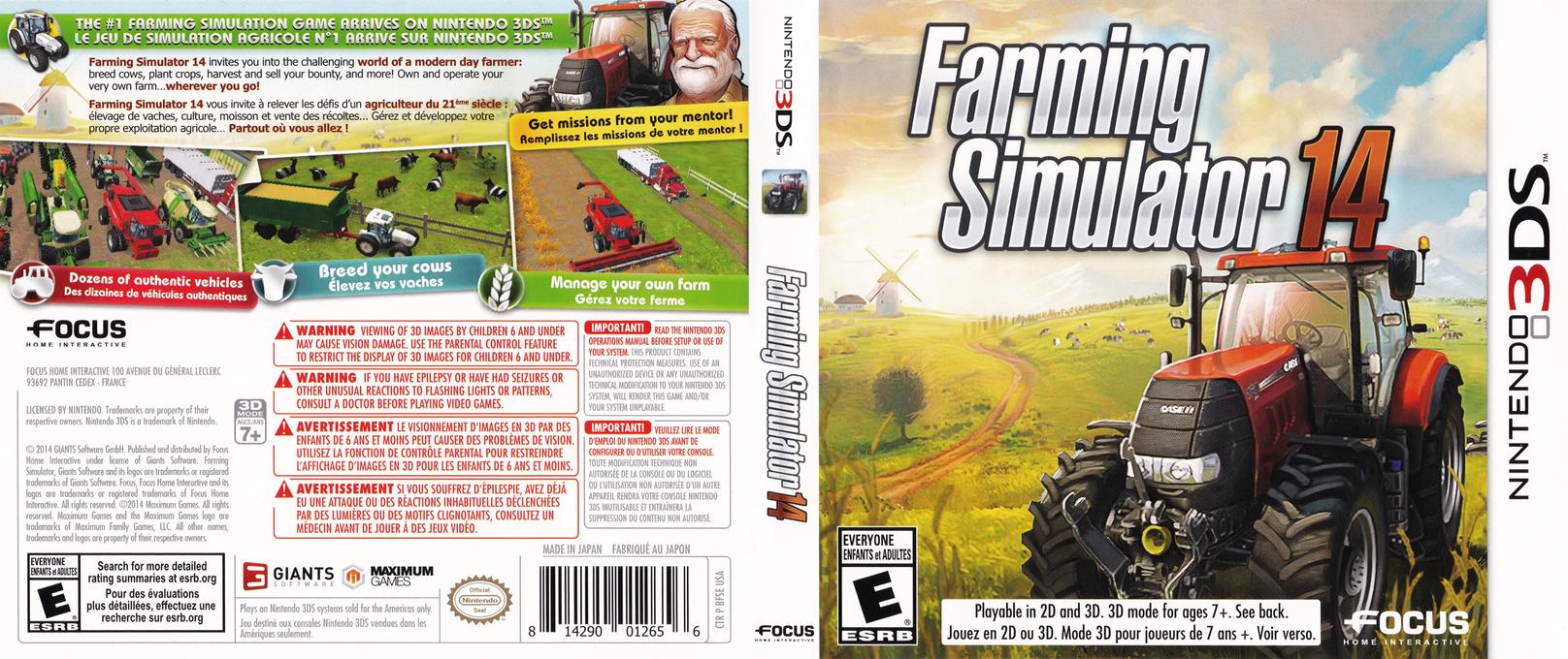 Farming Simulator 14 3DS coverfullHQ (BFSE)