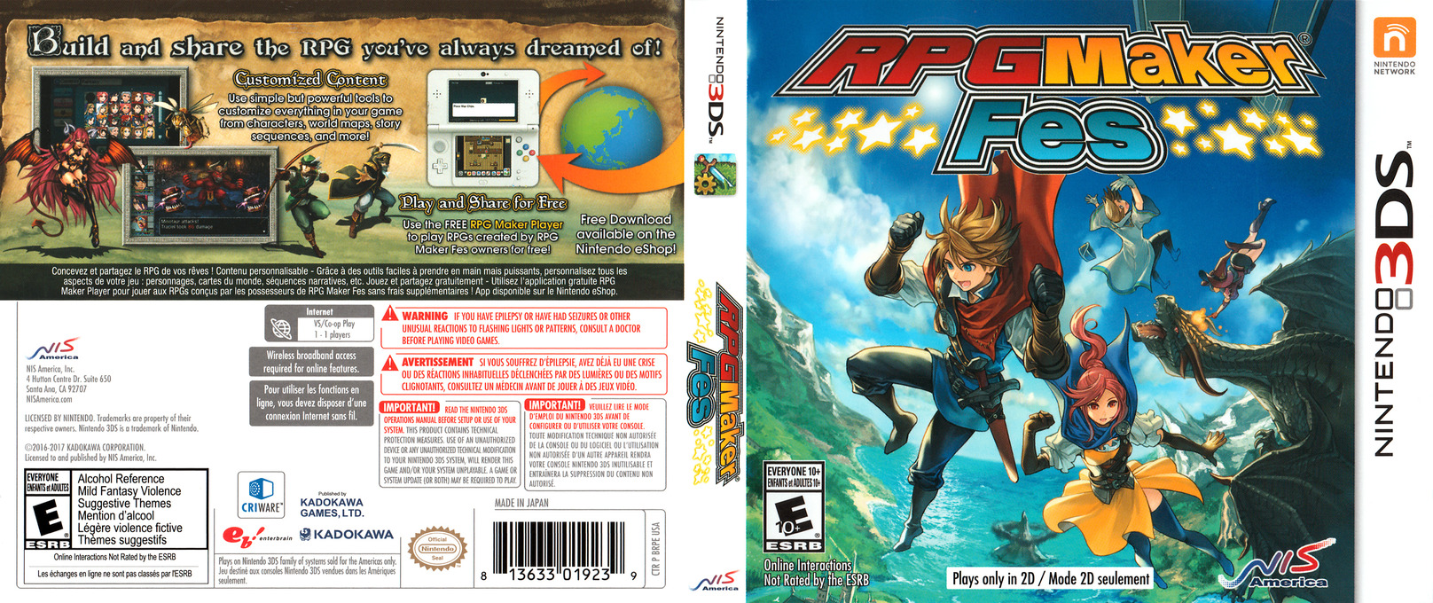 RPG Maker Fes 3DS coverfullHQ (BRPE)