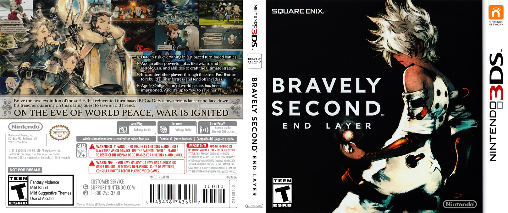 Bravely Second: End Layer 3DS coverfullHQ (BSEE)