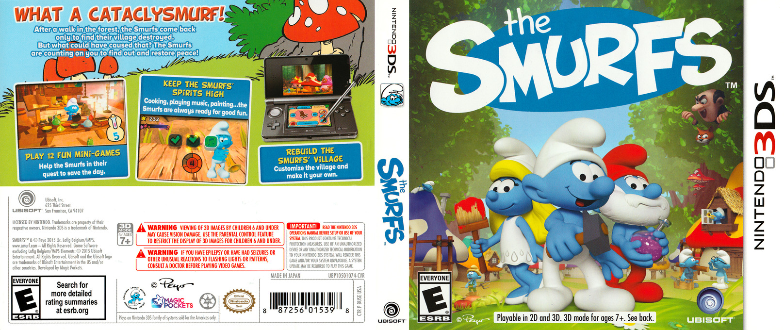 The Smurfs 3DS coverfullHQ (BUSE)