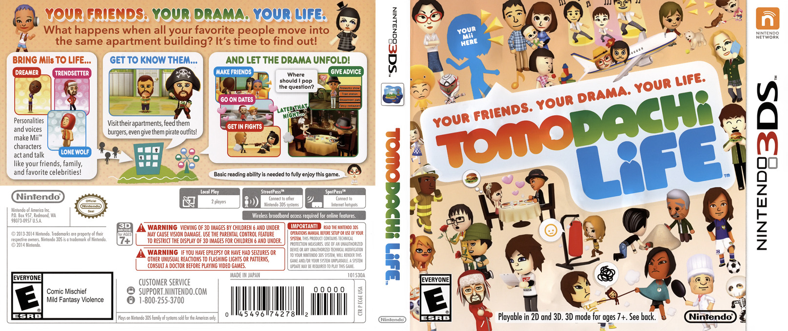 Tomodachi Life 3DS coverfullHQ (EC6E)