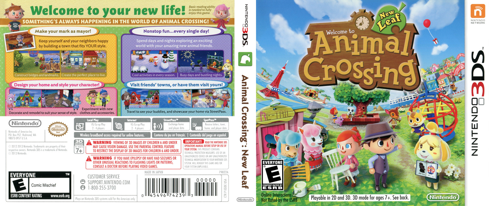 Animal Crossing - New Leaf 3DS coverfullHQ (EGDE)