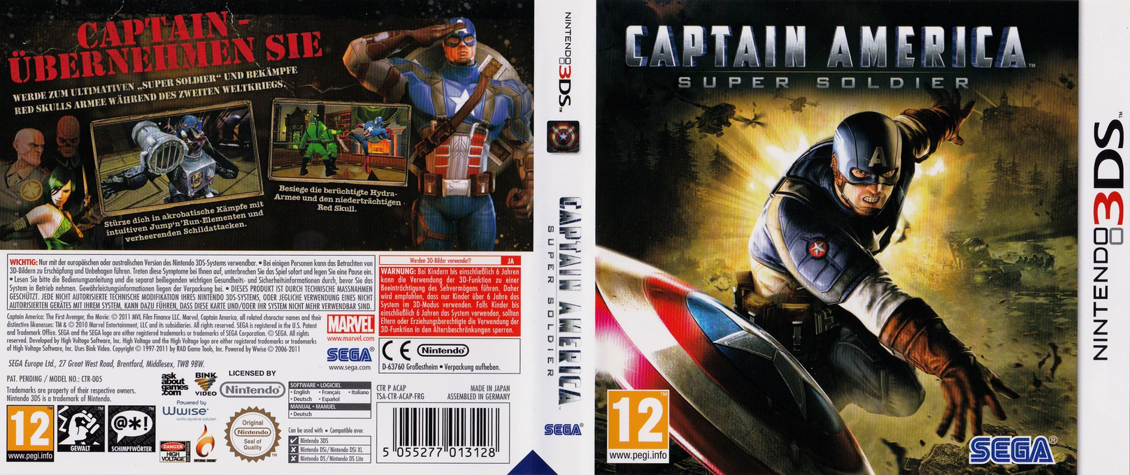 Captain America - Super Soldier 3DS coverfullHQ (ACAP)