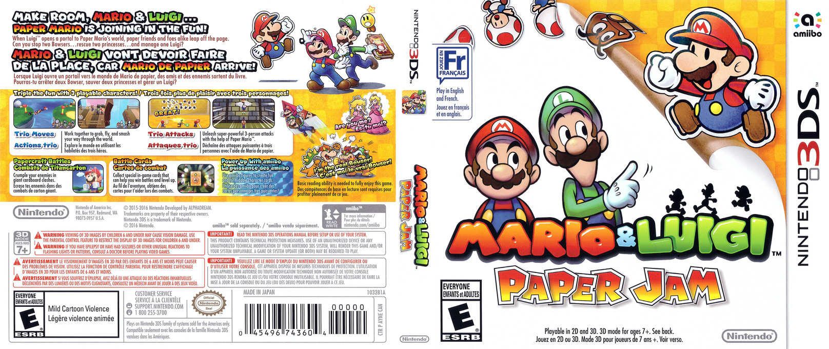 Ayne Mario Luigi Paper Jam