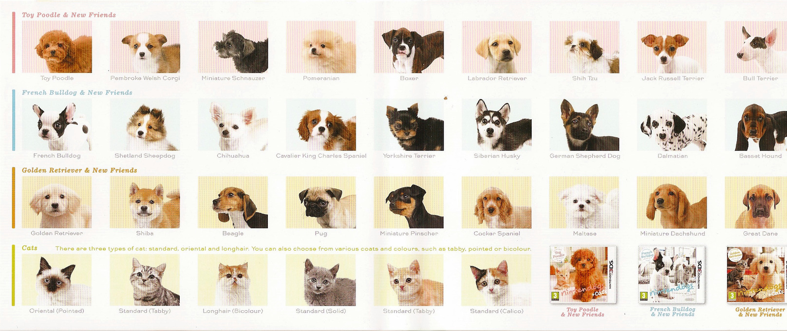 Nintendogs Dog Breeds