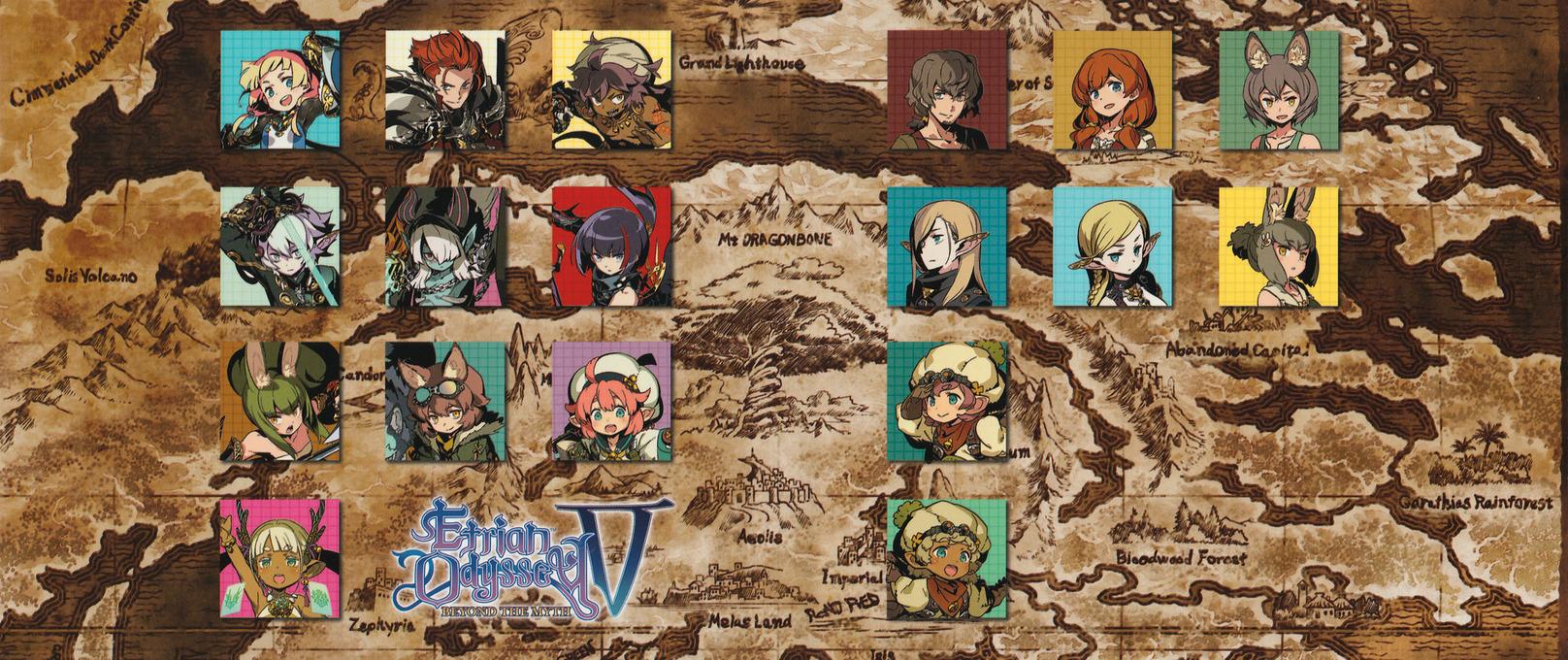 Etrian Odyssey V: Beyond the Myth 3DS coverfullHQ2 (BMZE)