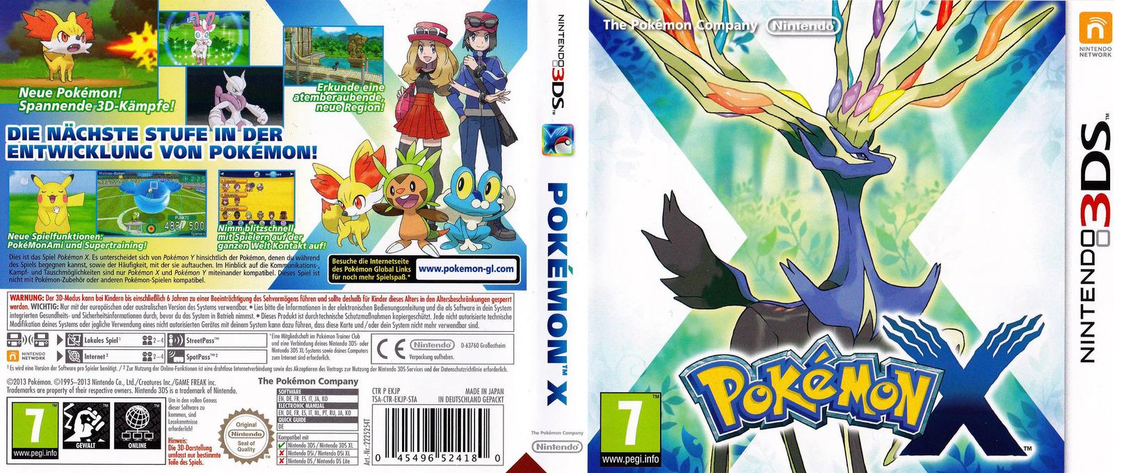 3ds Games Pokemon X