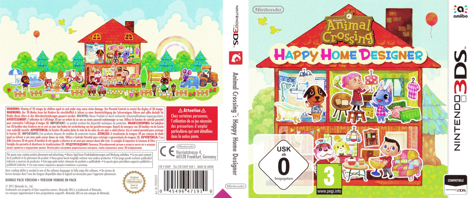 Animal Crossing - Happy Home Designer 3DS coverfullHQB (EDHP)