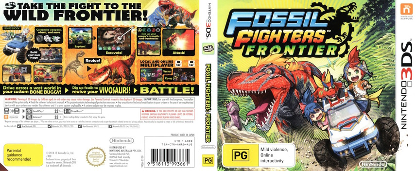 Fossil Fighters - Frontier 3DS coverfullM (AHRD)