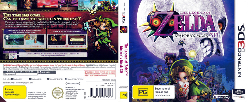 The Legend of Zelda - Majora's Mask 3D 3DS coverfullM (AJRP)