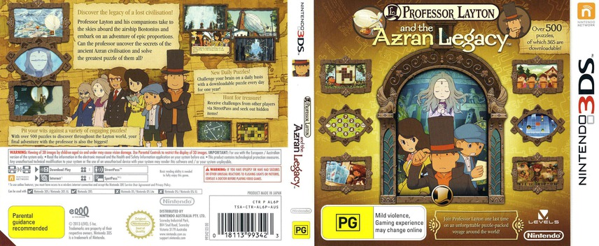 Professor Layton and the Azran Legacy 3DS coverfullM (AL6P)
