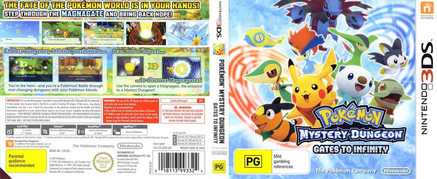 Pokémon Mystery Dungeon - Gates to Infinity 3DS coverfullM (APDP)