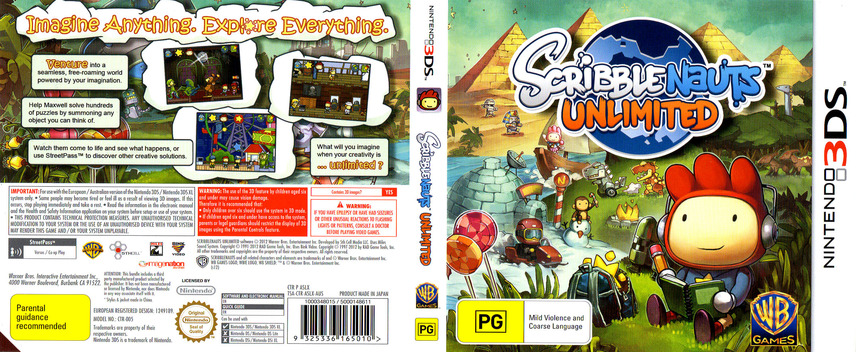 Scribblenauts Unlimited 3DS coverfullM (ASLX)