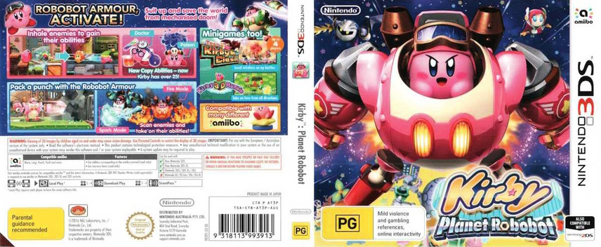 Kirby: Planet Robobot 3DS coverfullM (AT3P)