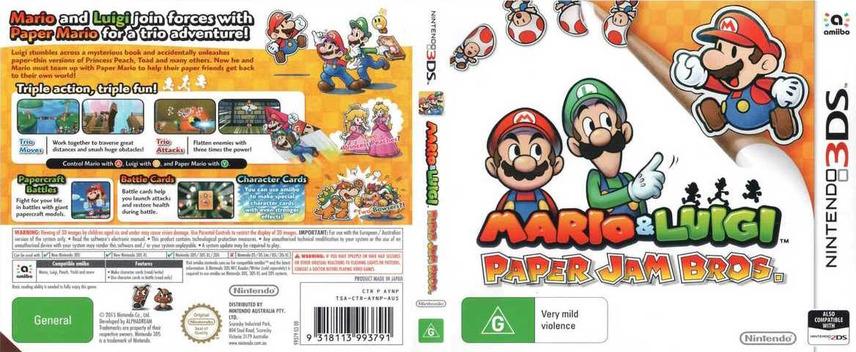 Mario & Luigi - Paper Jam Bros. 3DS coverfullM (AYNP)