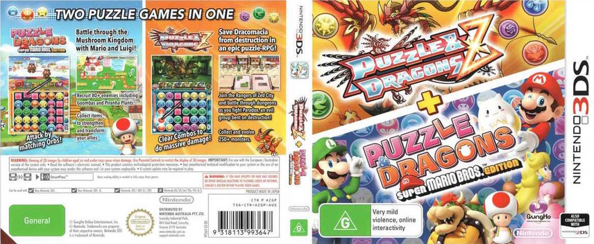 Puzzle & Dragons Z + Puzzle & Dragons Super Mario Bros. Edition 3DS coverfullM (AZGP)