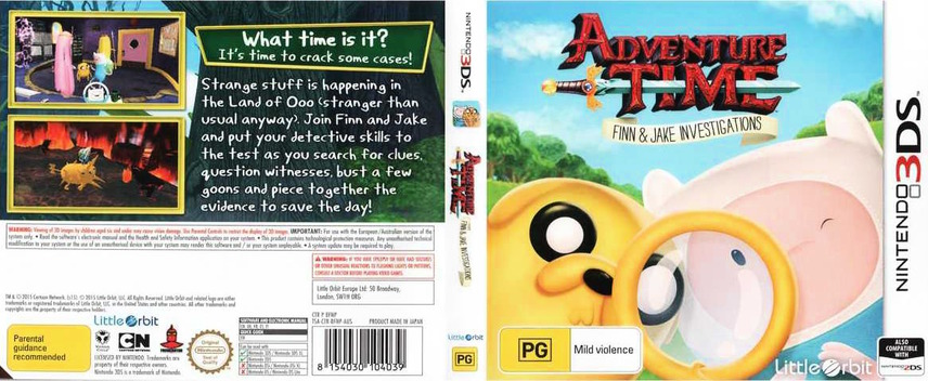Adventure Time - Finn & Jake Investigations 3DS coverfullM (BFNP)
