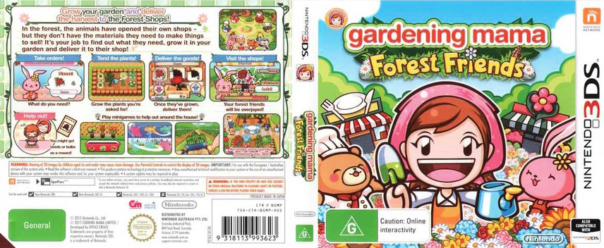 Gardening Mama - Forest Friends 3DS coverfullM (BGMP)