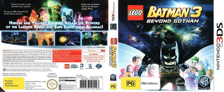 LEGO Batman 3 - Beyond Gotham 3DS coverfullM (BTMP)