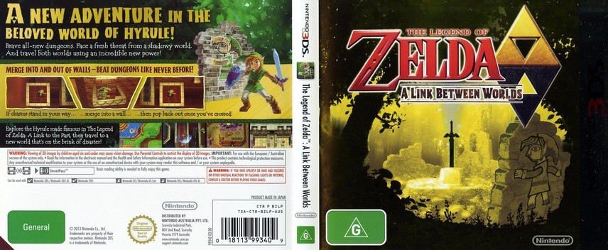 The Legend of Zelda - A Link Between Worlds 3DS coverfullM (BZLP)