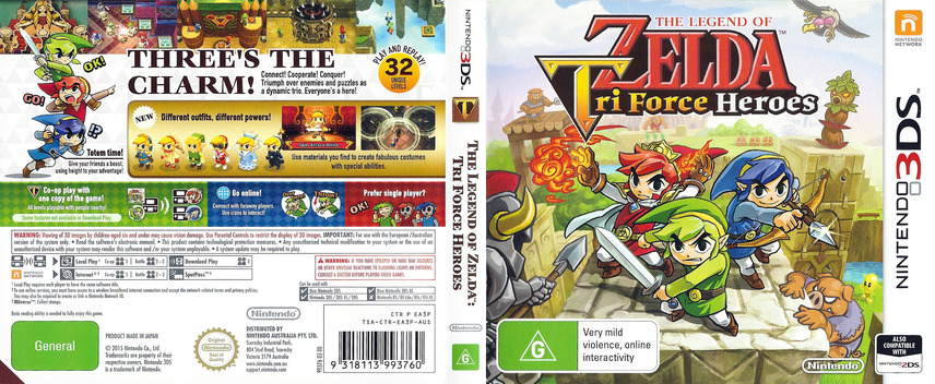 The Legend of Zelda - Tri Force Heroes 3DS coverfullM (EA3P)