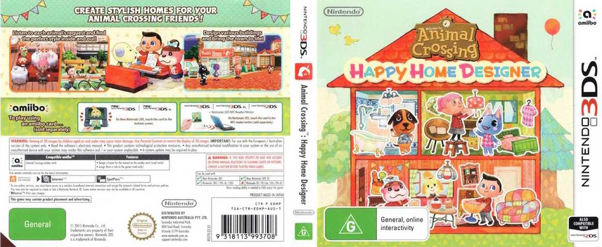 Animal Crossing - Happy Home Designer 3DS coverfullM (EDHP)