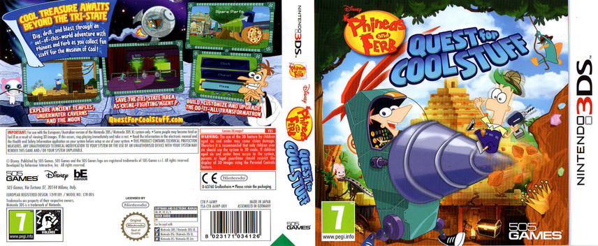 Phineas and Ferb - Quest for Cool Stuff 3DS coverfullM (AAWP)