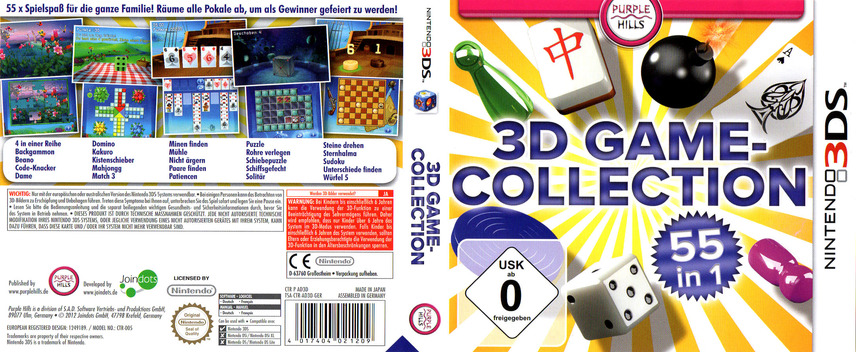 3D Game Collection - 55 in 1 3DS coverfullM (AD3D)