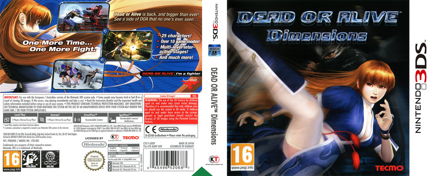 Dead or Alive - Dimensions 3DS coverfullM (ADDP)