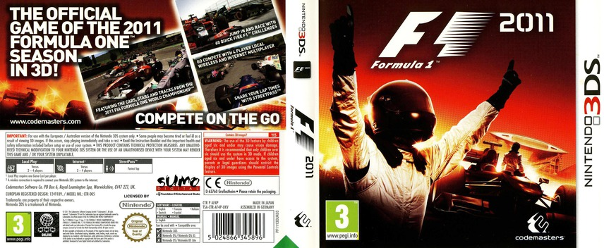 F1 2011 3DS coverfullM (AF4P)
