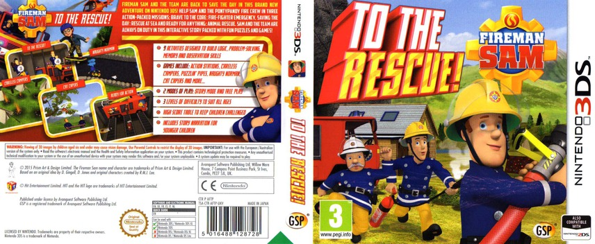 Fireman Sam - To The Rescue! 3DS coverfullM (AFTP)