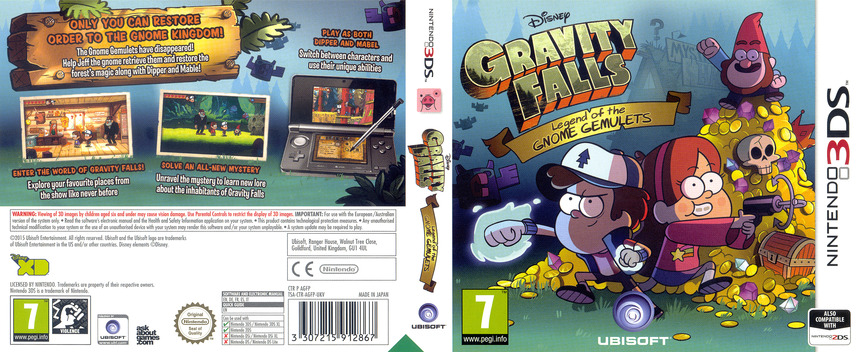 Gravity Falls - Legend of the Gnome Gemulets 3DS coverfullM (AGFP)