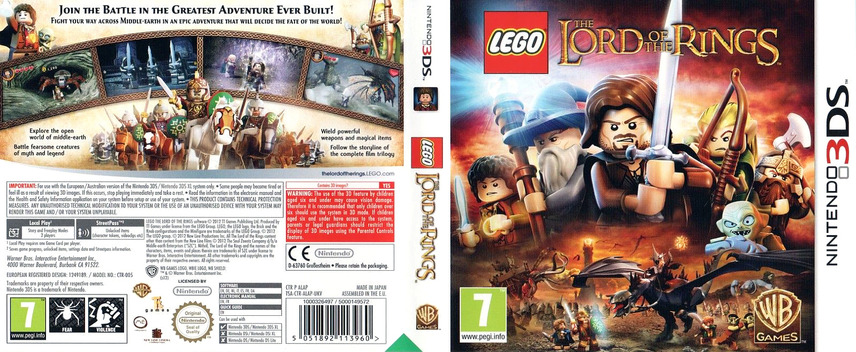 LEGO The Lord of the Rings 3DS coverfullM (ALAP)