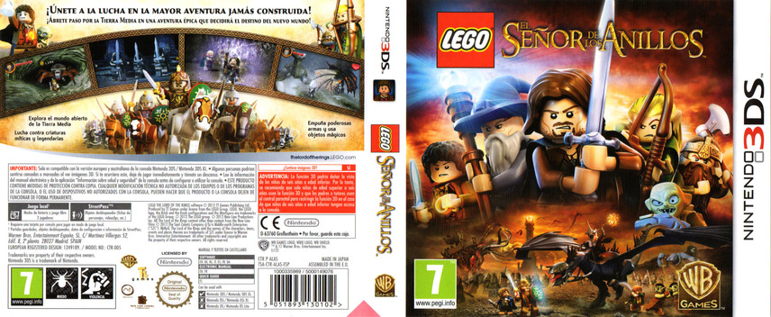 LEGO The Lord of the Rings 3DS coverfullM (ALAS)
