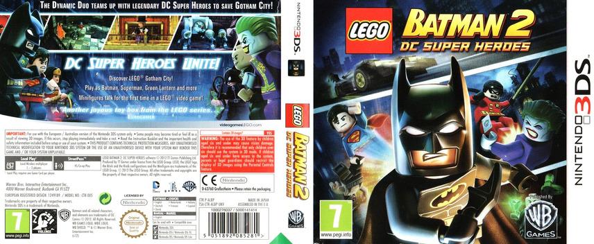 LEGO Batman 2 - DC Super Heroes 3DS coverfullM (ALBP)