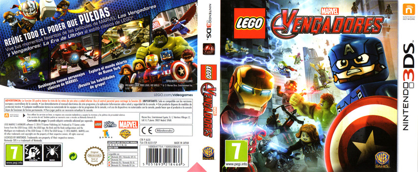 LEGO Marvel's Avengers 3DS coverfullM (ALEX)