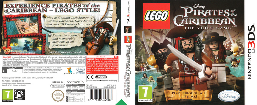 LEGO Pirates of the Caribbean - The Video Game 3DS coverfullM (APCP)