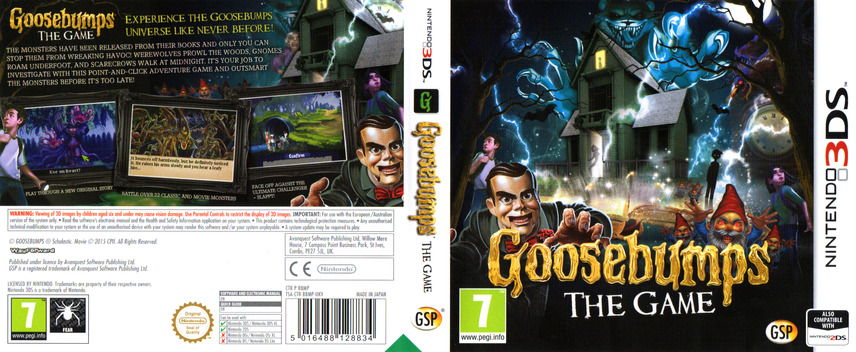 Goosebumps - The Game 3DS coverfullM (BBMP)