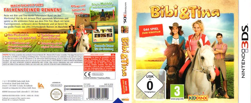 Bibi & Tina - Das Spiel zum Kinofilm 3DS coverfullM (BBTD)