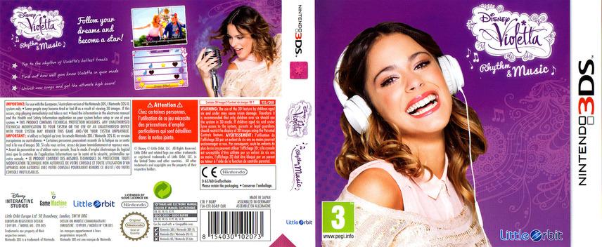 Disney Violetta - Rhythm & Music 3DS coverfullM (BGRP)