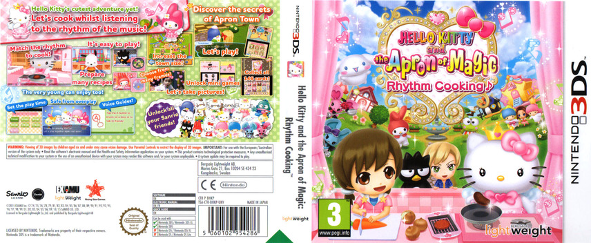 Hello Kitty and the Apron of Magic - Rhythm Cooking 3DS coverfullM (BHKP)