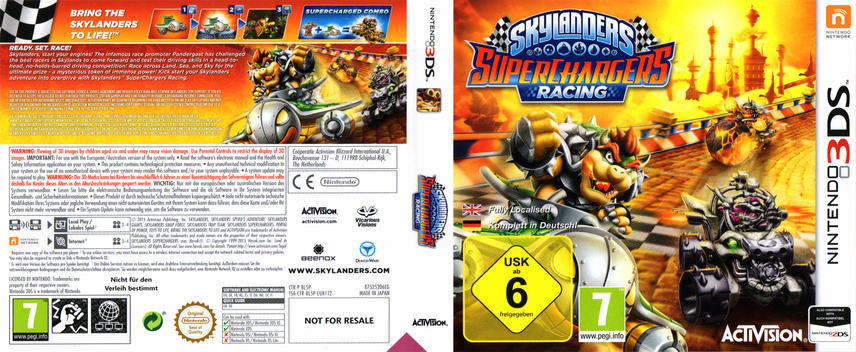 Skylanders SuperChargers Racing 3DS coverfullM (BL5P)