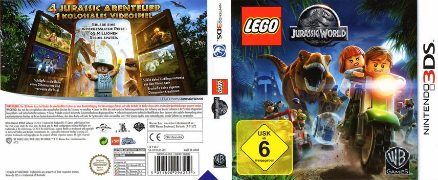 LEGO Jurassic World 3DS coverfullM (BLJZ)