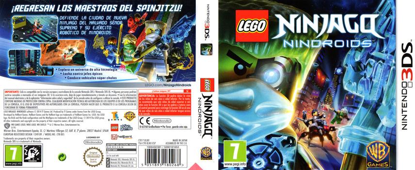 LEGO Ninjago - Nindroids 3DS coverfullM (BLNX)