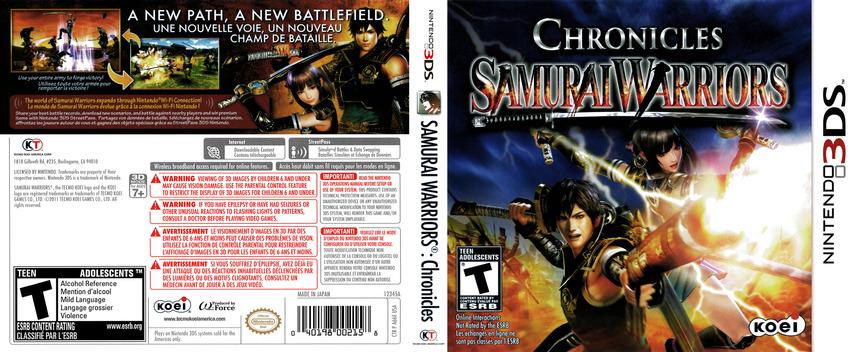 Samurai Warriors - Chronicles 3DS coverfullM (A66E)