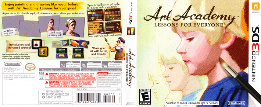 Art Academy - Lessons for Everyone 3DS coverfullM (AACE)