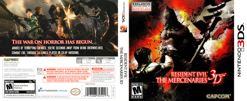 Resident Evil - The Mercenaries 3D 3DS coverfullM (ABME)