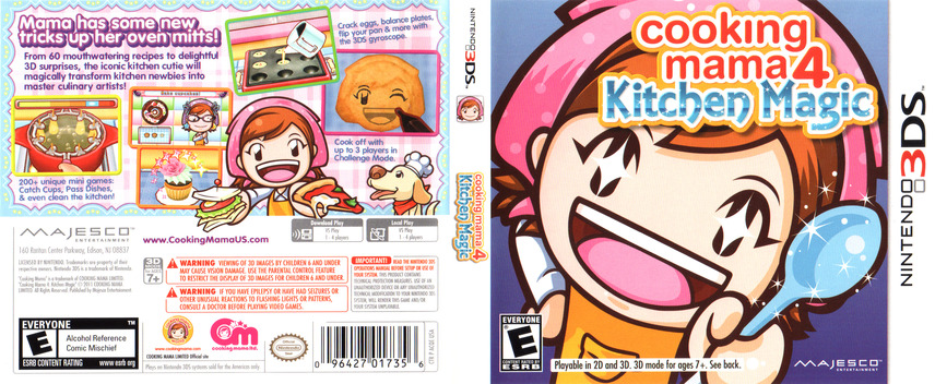 Cooking Mama 4 - Kitchen Magic 3DS coverfullM (ACQE)