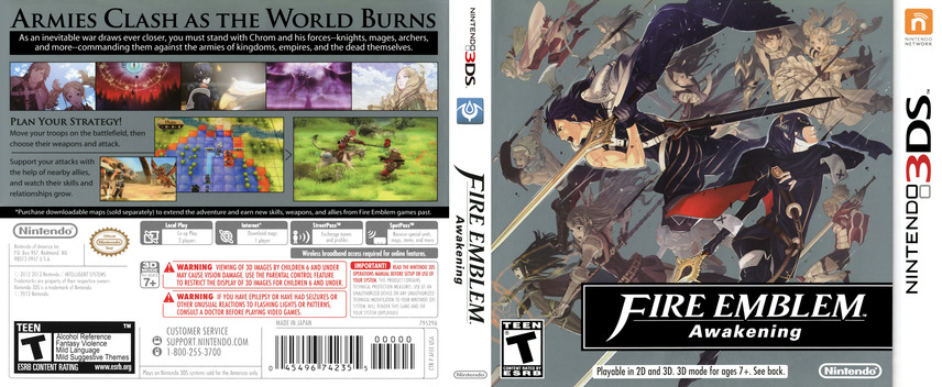 Fire Emblem - Awakening 3DS coverfullM (AFEE)